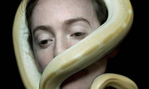 Juul Kraijer's shot of a model and a python