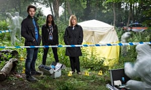 Damien Molony, Clare-Hope Ashitey and Fay Ripley in Suspects