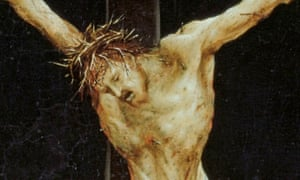 Portraying pain … a panel from Matthias Grünewald's altarpiece at Isenheim, showing the Crucifiction