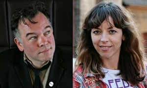 His-and-hers comedy … Stewart Lee and Bridget Christie.