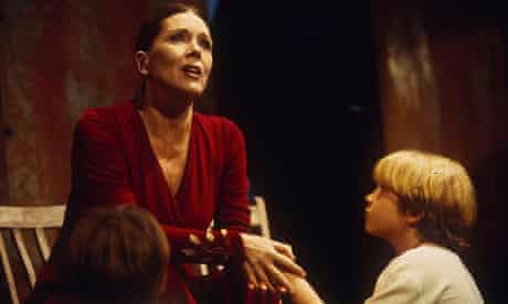 Diana Rigg as Medea at Wyndham's theatre in 1993