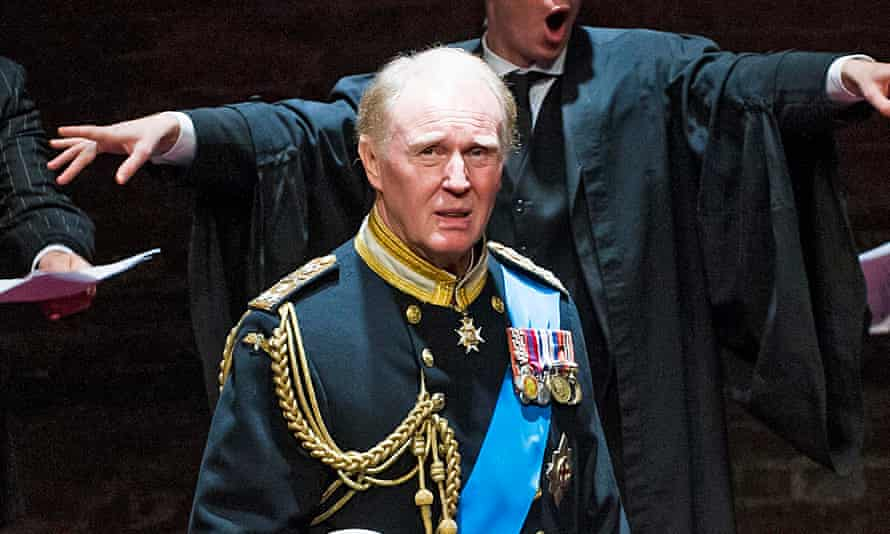 Tim Pigott-Smith, centre, in King Charles lll at Wyndham's theatre, London.