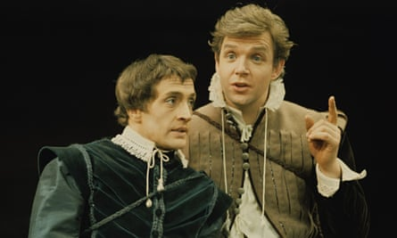 John Stride and Edward Petherbridge in Rosencrantz and Guildenstern Are Dead