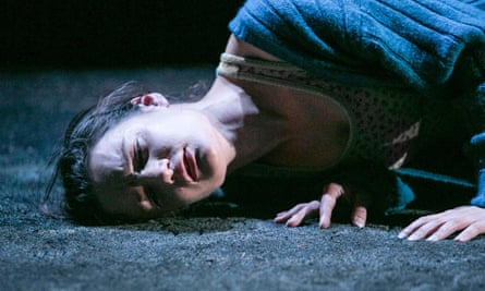 Unflinching … Aoife Duffin in Corn Exchange Theatre Company's A Girl Is a Half-formed Thing