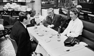 Claude Lanzmann, Jean-Paul Sartre and Simone de Beauvoir