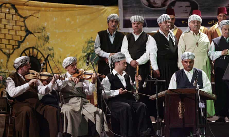 "Iraqi musicians take part in a ""Maqam"" m"