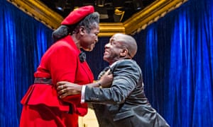 Sharon D Clarke and Lucas Msamati in A Wolf in Snakeskin shoes