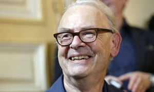 French writer Patrick Modiano gives a pr