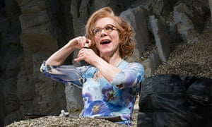 'We can both laugh at her and feel affection for her' … Juliet Stevenson as Winnie in Happy Days at