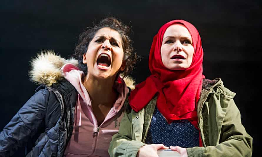 Maya Sondhi (Harpreet) and Clare Calbraith (Natalie) in Multitudes at the Tricycle, London.