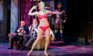 Sense of fun … Cory English, Jason Manford and Tiffany Graves in The Producers at Churchill theatre,
