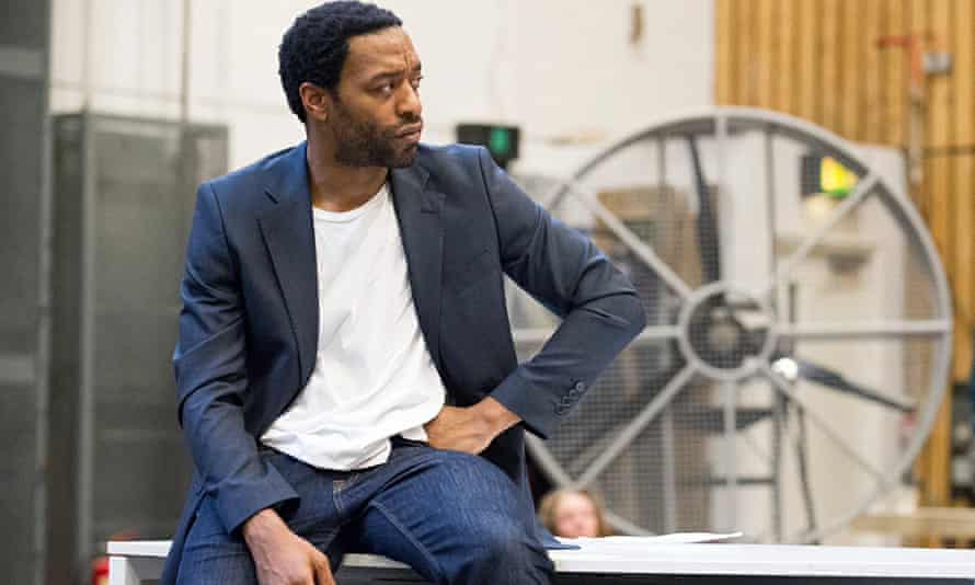 Chiwetel Ejiofor in rehearsals for Carol Ann Duffy's new version of Everyman at the National Theatre