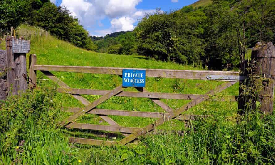 Private no access to farm land Derbyshire Peak District Monsal Dale England UK