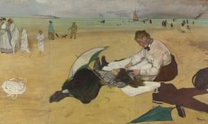 Beach Scene by Degas