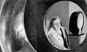 Barbara Hepworth with her sculpture Four-Square (Walk Through)