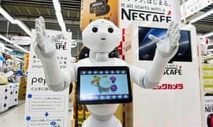Robotic Store Clerk 'Pepper' Sells Coffee Machines