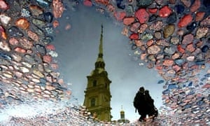 Peter and Pawel fortress in St Petersburg reflected