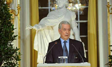 Mario Vargas Llosa gives his Nobel lecture