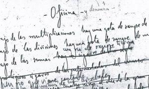 Lorca manuscript