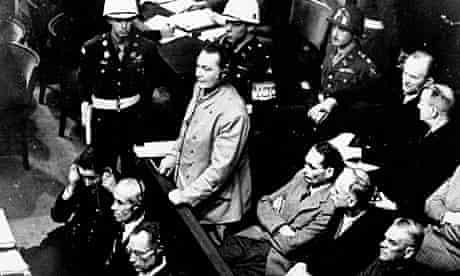 Hermann Goering at the Nuremberg trials