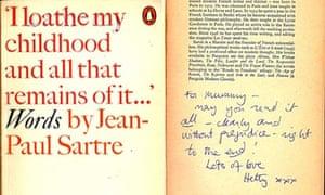 Inscribed copy of Jean-Paul Sartre's Words