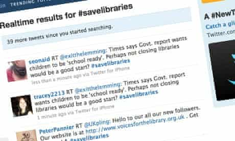 Tweets in support of #savelibraries