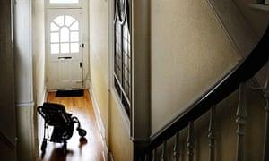 Pram in a hallway
