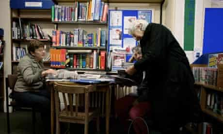 Library users on the Isle of Wight