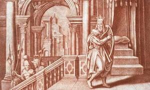 King David sings Psalms