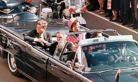 President Kennedy in Dallas motorcade on day of assassination