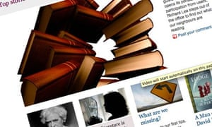 The new guardian.co.uk/books front page