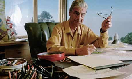 Dr Seuss at his desk