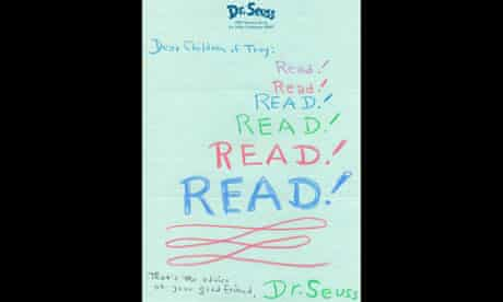 Dr Seuss's letter to Troy library readers
