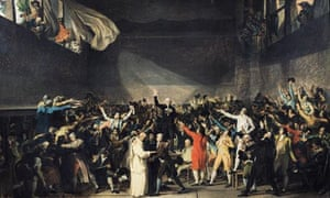 The Tennis Court Oath after Jacques-Louis David