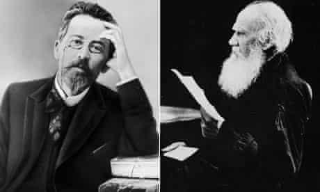 Anton Chekhov and Leo Tolstoy