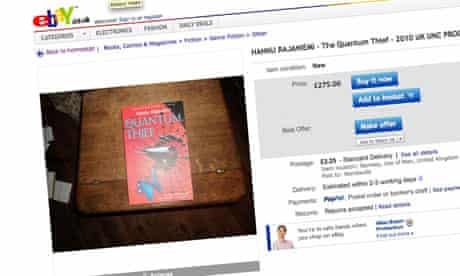 Hannu Rajaniemi proof for sale on eBay