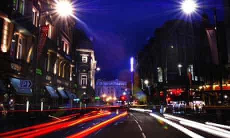 Shaftesbury Avenue by night.