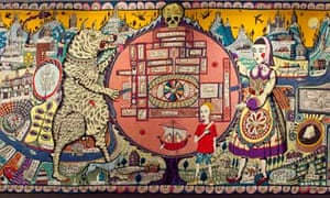Detail from a Grayson Perry tapestry