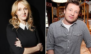 JK Rowling and Jamie Oliver: Christmas rivals
