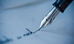 Writers bid to revive letter writing books the guardian letter post modernism pen writing on an envelope photograph erhan dayi alamy thecheapjerseys Images
