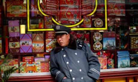 Security guard in Shanghai