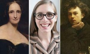 Mary Shelley, Eleanor Catton, Arthur Rimbaud