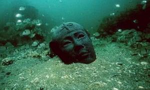 Head of a sculpture