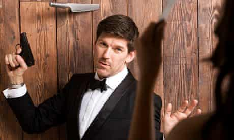 Restaurateur Russell Norman  in a Bond-themed photoshoot