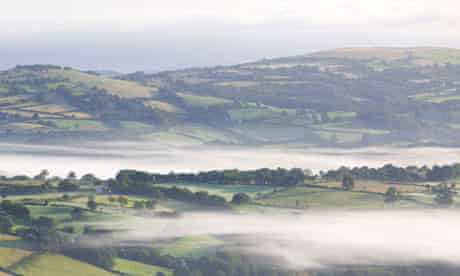 Dawn in the Brecon Beacons