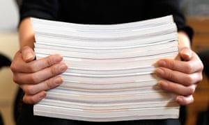 Stack of manuscripts