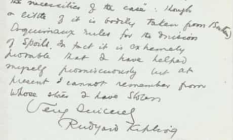 Kipling letter