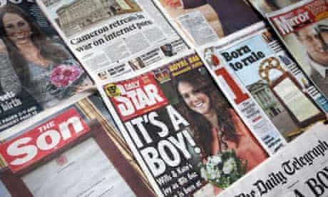 Royal baby headlines