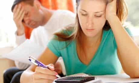 Couple worries about finances