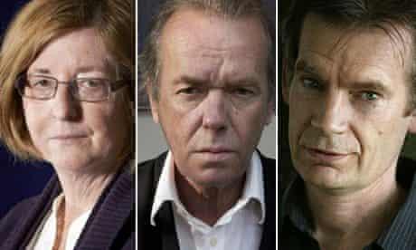 Pat Barker, Martin Amis, Graham Swift